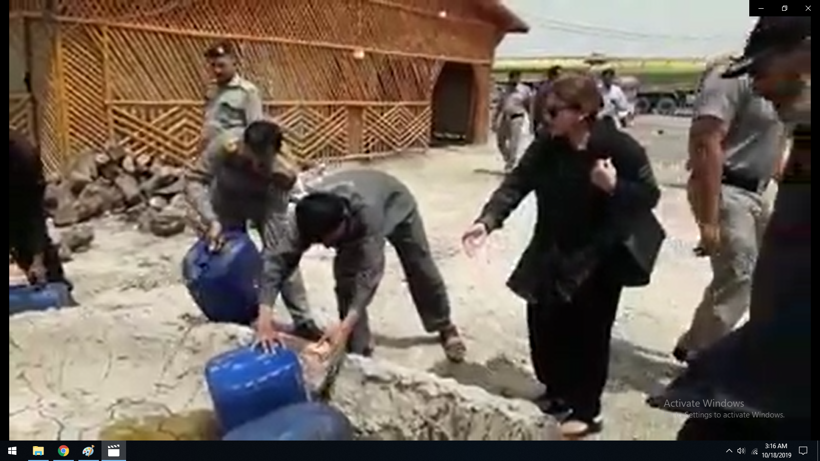 Direction of Aisha Junejo Discarding Open market Oil, Which is hazardous for human consumption. It was being used at a restaurant on the Panoaqil Highway.