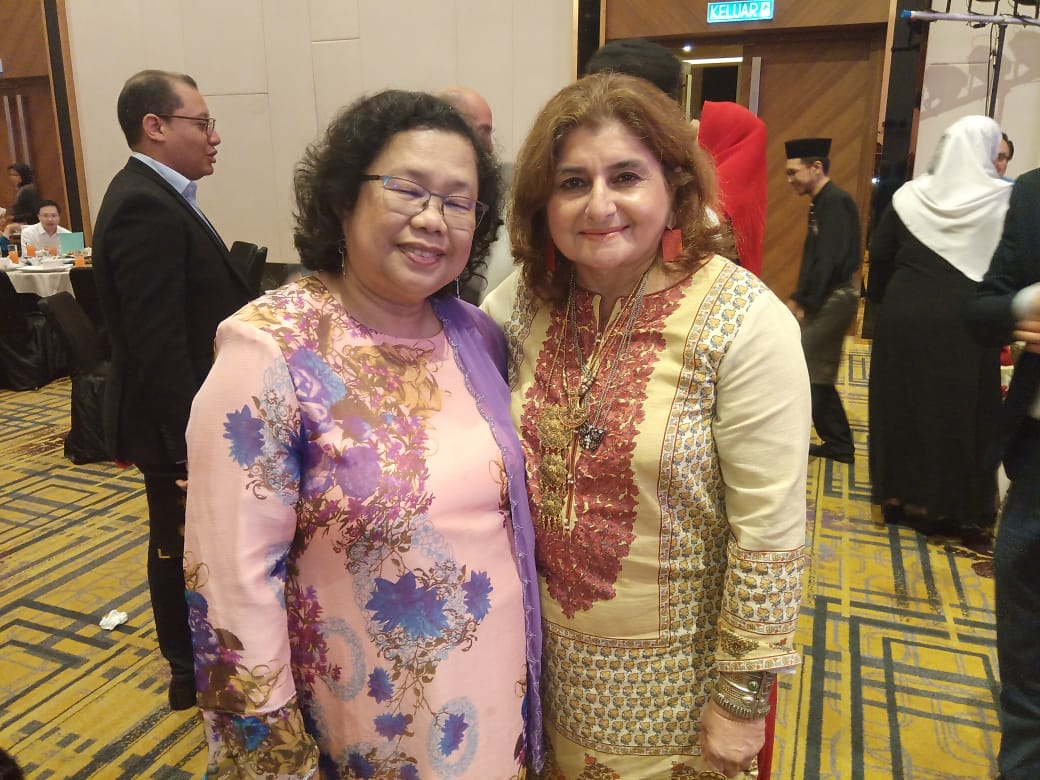 Director Aisha Junejo Photo with Director Palm Oil Rosidah Radzian in Malaysia